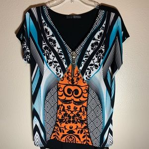 Large Colorful Fall Top by Coco Bianco